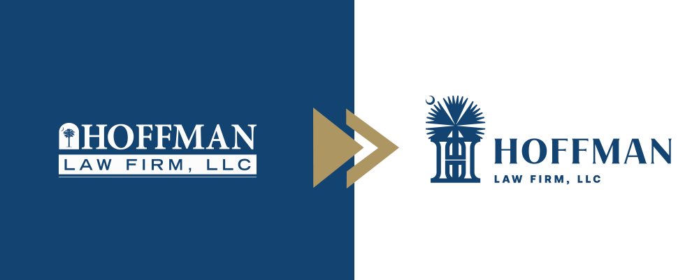 Hoffman Law Firm Old and New Logos